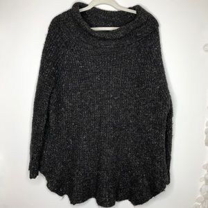 Free People gray cowl neck long sleeve sweater